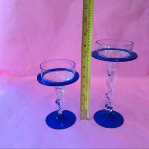 Vintage Accents - Antique crystal candle holders